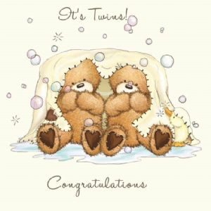 Twins Cute New baby Card